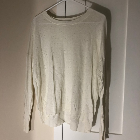 Madewell Sweaters - Madewell White Sweater - Size Medium